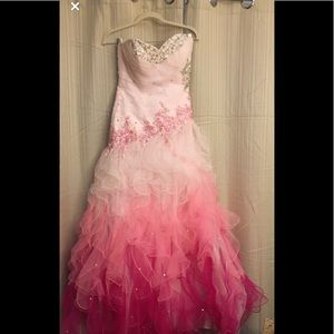 Spectacular Pink ombré pink gown